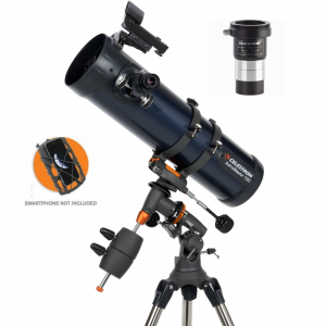 Celestron AstroMaster 130EQ Newtonian with Phone Adaptor & Barlow T-Adaptor