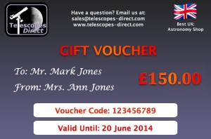 Telescopes Direct Gift Voucher £150