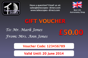Telescopes Direct Gift Voucher £50