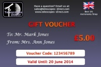 Telescopes Direct Gift Voucher £5