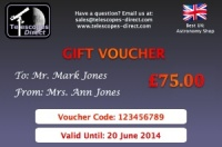 Telescopes Direct Gift Voucher £75